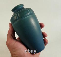 Antique 1910 Rookwood Ohio Arts & Crafts Pottery Vase Matte Blue #614f Frieze