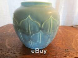Antique 1935 Rookwood Pottery # 6473 Matte Blue Arts & Crafts Era Signed