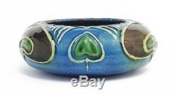 Antique ARTS & CRAFTS MOVEMENT CH BRANNAM BARUM Pottery SALT CELLAR c1904