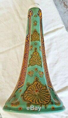 Antique Art Nouveau Gouda Lamp Base 1921 PZH Maria Niewenhuisen Arts Crafts Josy