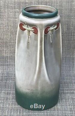 Antique Arts And Crafts Mission Porcelain Ceramic Vase Julius Dressler 1910 Ish