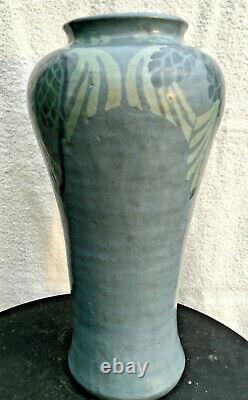 Antique Arts & Crafts MECHANICS INSTITUTE POTTERY VASE Walrath Studio Rochester