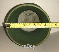 Antique Genuine Bybee Matte Green Vase Hand Made Arts & Crafts Pottery Kentucky
