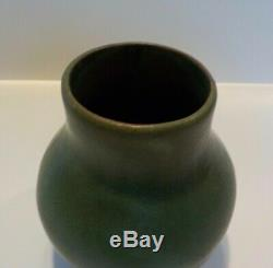 Antique Matte Green Peters Reed Pottery Vase Arts & Crafts Mission Vintage Rare