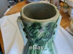 Antique Original Forrest Or Vista Arts And Crafts Large Roseville Pottery Vase