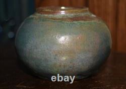 Antique Pewabic Vase Iridescent Beautiful colors EXC condition 2 1/8 Art Crafts