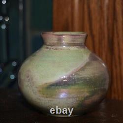 Antique Pewabic Vase Iridescent Beautiful colors EXC condition 2 3/4 Art Crafts