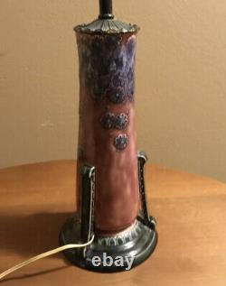 Antique Rookwood Arts & Crafts American Art Pottery Table Lamp 1923 2610 Form