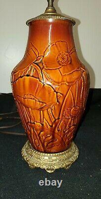Antique Rookwood Arts & Crafts Lamp Signed