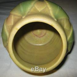 Antique Roseville Mission Arts Crafts Velmoss Art Pottery Flower Plant Vase Mint