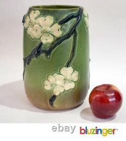 Antique Roseville Pottery Dogwood Vase 136-8 (smooth) Arts & Crafts