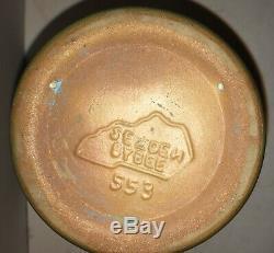 Antique Vase Matte Green Arts & Crafts Pottery Three Handle Dead Selden Bybee KY