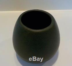 Antique Velvet Matte Green Peters Reed Pottery Vase Arts Crafts Mission RARE