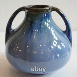 Antique Vintage American Fulper Arts and Crafts Blue Flambe Pottery Vase c. 1920