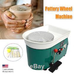 Art DIY Craft Electric Pottery Machine Ceramic Sculpting Turntable 110V 350W BIN