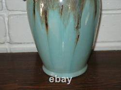 Art Pottery Large Good Luck Elephant NoseTusk Handles Studio Crafted Glazed Fin