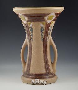 Arts And Crafts Roseville Pottery Mostique Large Handled 12 Vase 1916