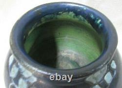 Arts & Crafts Carved Zark Pottery Vase