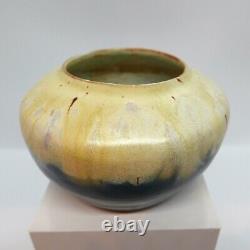 Arts & Crafts Crystalline Glaze Pottery Bowl, Nicely made