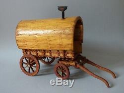 Arts Crafts Matchstick Shed Ware Romany Gypsy Horse Vardo Caravan Countryside