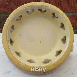 Arts & Crafts Matte Finish Art Pottery Pierced Vase Very Unique