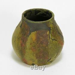 Arts & Crafts Pottery Strobl Wheatley not Merrimac matte olive green glaze vase
