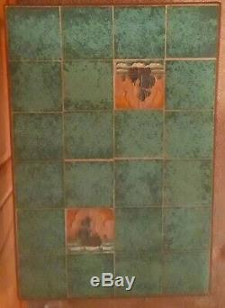 Arts & Crafts Table / Wrought Iron Base /Handcrafted Arts & Craft Ship Tiles