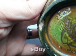 Arts & Crafts Vase PILKINGTON ROYAL LANCASTRIAN DECORATED BY RICHARD JOYCE Deer