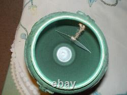 Arts & Crafts Vase by Door Pottery dragonfly Wheatley style curdle green 14 tal