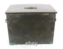 Arts and Crafts Copper Log Box Ruskin Pottery Cabochons Liberty & Co Superb