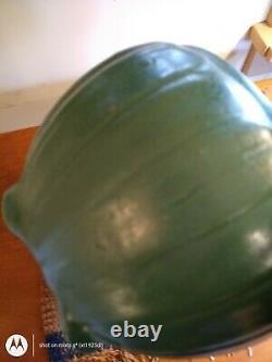 Arts crafts pottery matte green