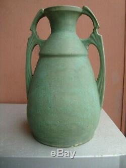 Austria Germany Matte Green 13.5 Arts & Crafts Secessionist Vase