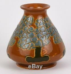 Avon Faience 6 Tall Arts And Crafts Scenic Vase With Trees