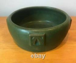 Beautiful Matte Green Arts and Crafts Bowl, Unknown Maker