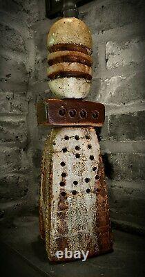 Bernard Rooke studio pottery lamp / Brutalist, Troika, Arts & Crafts Mid Century