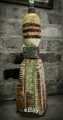 Bernard Rooke studio pottery lamp Brutalist, Troika, Arts & Crafts Mid Century