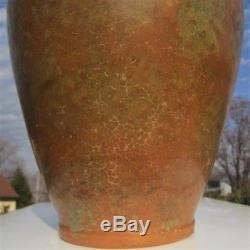 Bronze Glaze Burley Winter Arts & Crafts Pottery Amphora Niloak Era Rebecca Vase