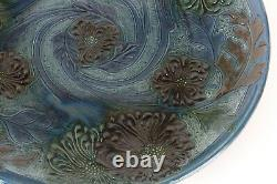 C. H Brannam Pottery Arts and Crafts Charger 1905 F. Braddon Art Nouveau