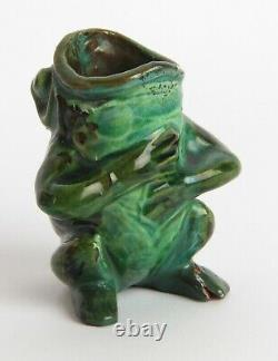 C. H Brannam Pottery Arts and Crafts Frog Grotesque Devon