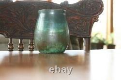 CLEWELL POTTERY 5.25 TALL ARTS AND CRAFTS VASE Signed Numbered