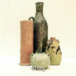 CYNTHIA BRINGLE Tall Green Jug Vase PENLAND School of Crafts Museum NC Pottery