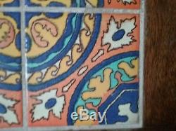 California Catalina Pottery Tile Top Table 1930' Mission arts & crafts vintage