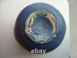 Cambridge Pottery Arts & Crafts 6 by 8 Matte Blue Vase