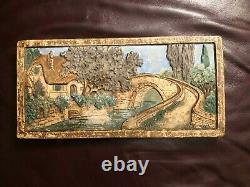 Claycraft Art Tile California Pottery Cottage Bridge Tree Craftsman Art & Crafts