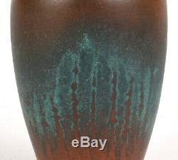 Clewell Pottery Copper Clad 5 Tall Arts And Crafts Vase Fantastic Glaze