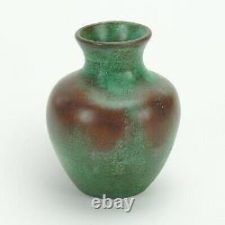 Clewell copper pottery vase arts & crafts verdigris matte green patina Weller