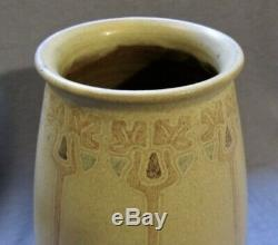 Decorated Marblehead Art Pottery Vase Arts & Crafts 6 Incised Trees 4 Colors