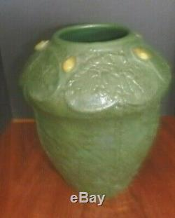 Door Art Pottery Vase Scott Draves Arts & Crafts Style Marked