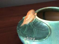 Door Pottery Arts & Crafts Style Frog Vase signed Scott Draves