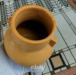 Door Pottery Handled Cabinet Vase Clementine Faience Glaze ARTS & CRAFTS Beauty